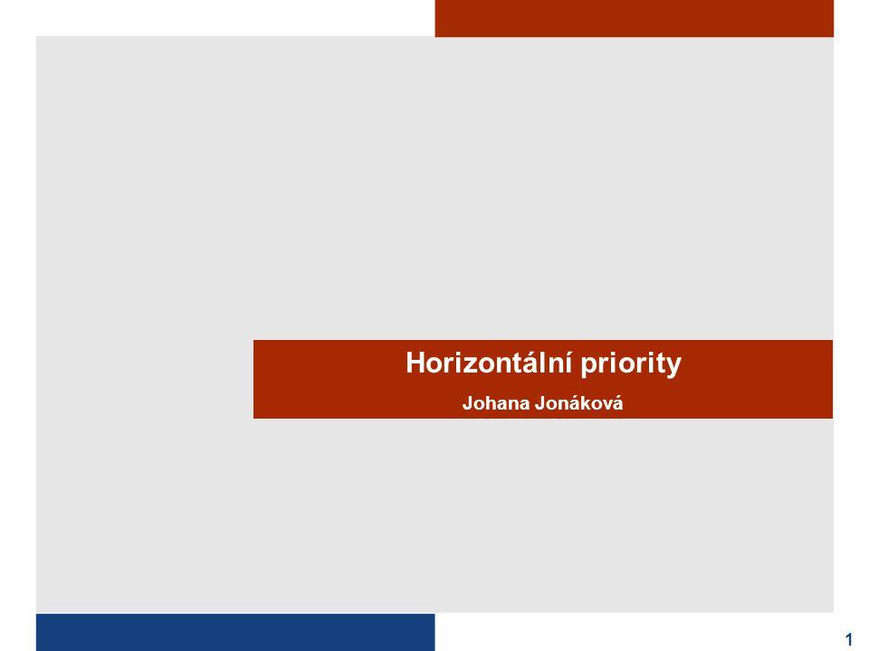 Horizontální priority Johana Jonáková 1