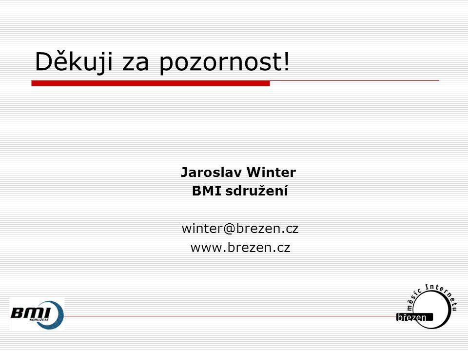 Děkuji za pozornost! Jaroslav Winter BMI sdružení winter@brezen.cz www.brezen.cz