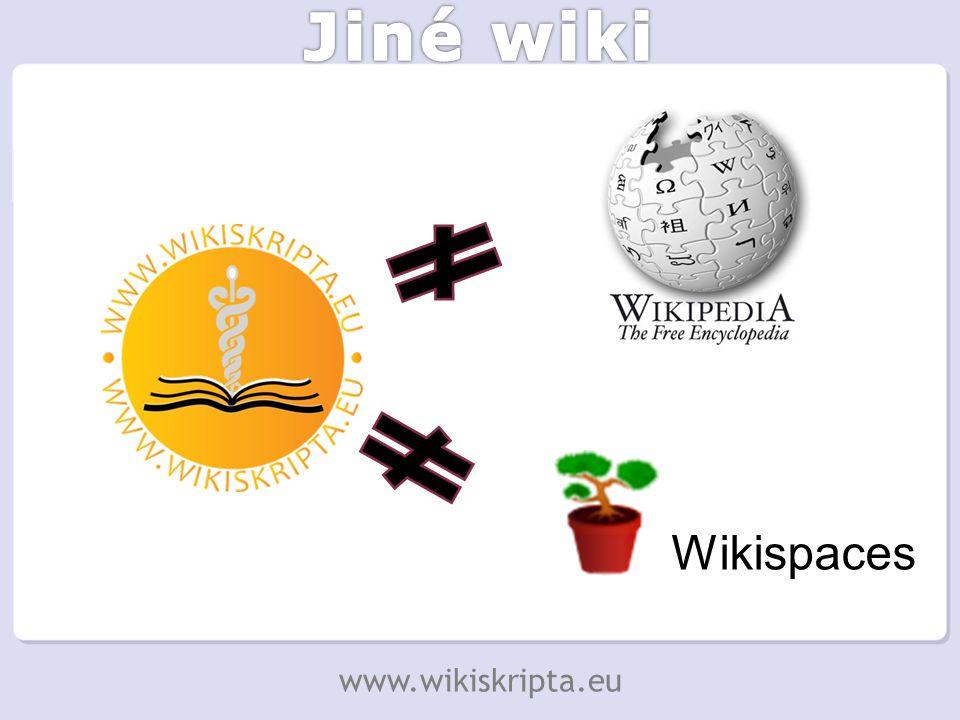 Wikispaces www.wikiskripta.eu