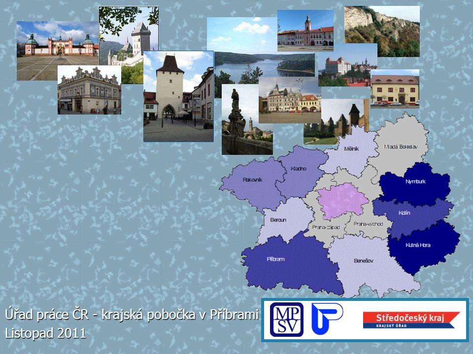 Středočeský kraj – největší ze 14 krajů České republiky Úřad práce ČR – krajská pobočka v Příbrami