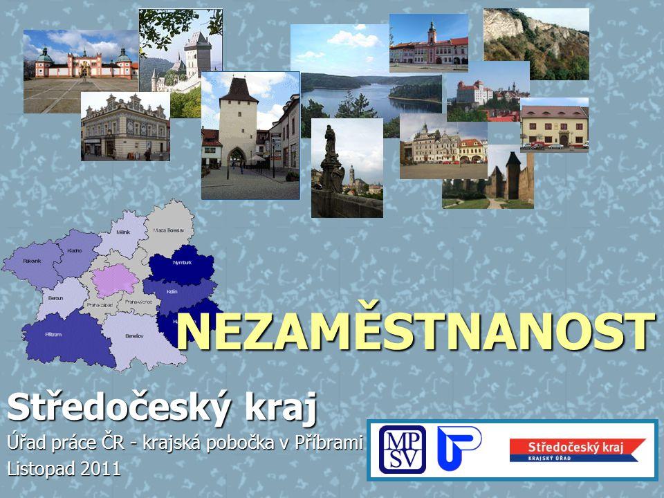 Míra nezaměstnanosti v krajích ČR k 31. 10.2011 Úřad práce ČR – krajská pobočka v Příbrami