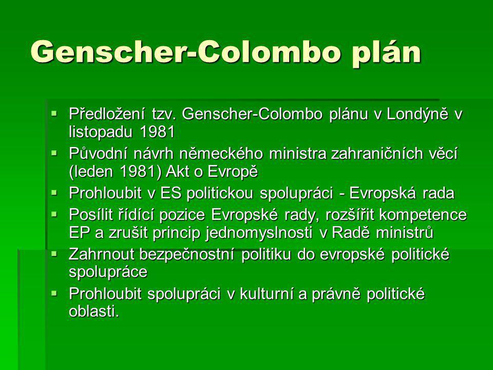 Genscher-Colombo plán  Předložení tzv.