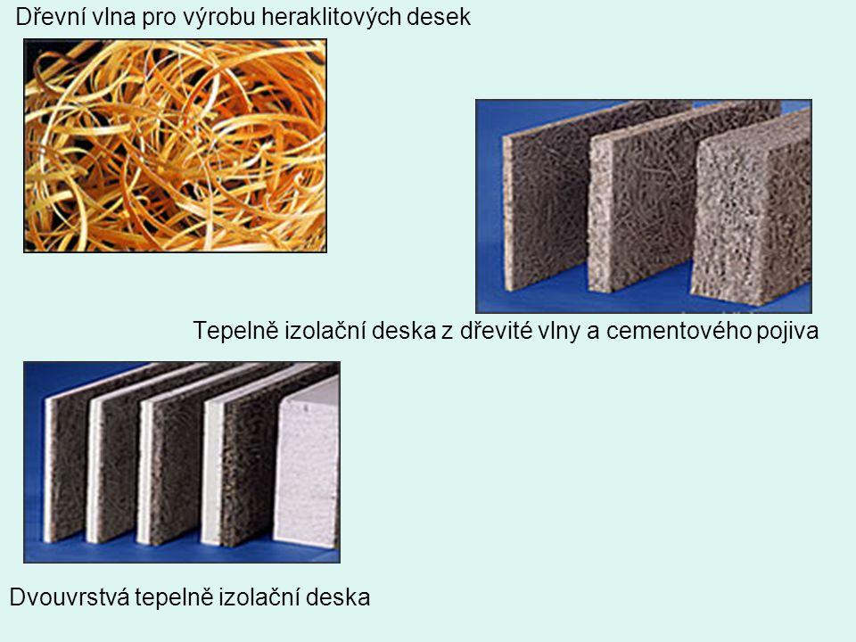 Dřevní vlna pro výrobu heraklitových desek Tepelně izolační deska z dřevité vlny a cementového pojiva Dvouvrstvá tepelně izolační deska