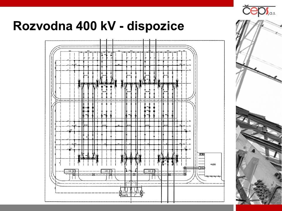 Rozvodna 400 kV - dispozice