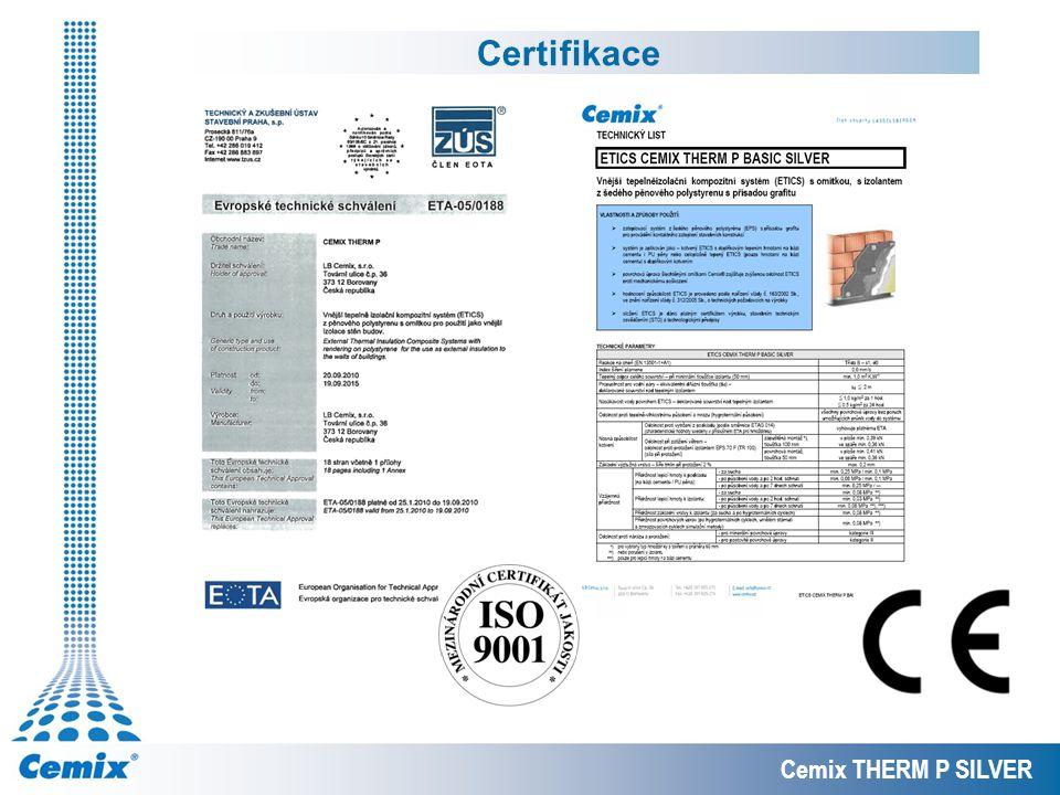 Certifikace Cemix THERM P SILVER