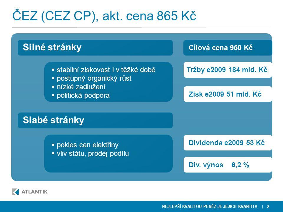 NEJLEPŠÍ KVALITOU PENĚZ JE JEJICH KVANTITA | 13 NWR  90 % tržeb z těžby ropy  nízký dluh, 3 mld EUR cash  atraktivní trh CEE  nízké rafinérské marže