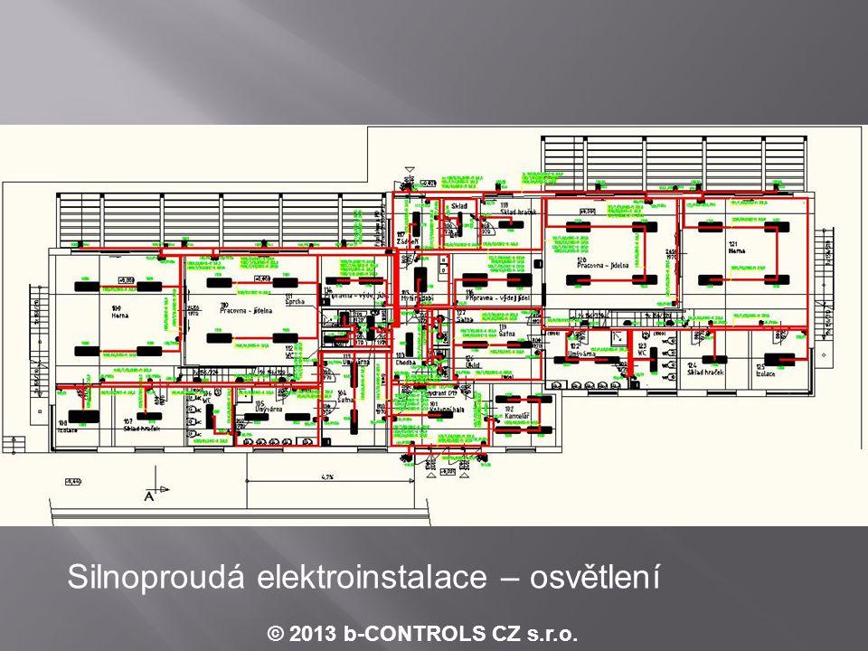 Příklad schématu zapojení analogových vstupů - MaR