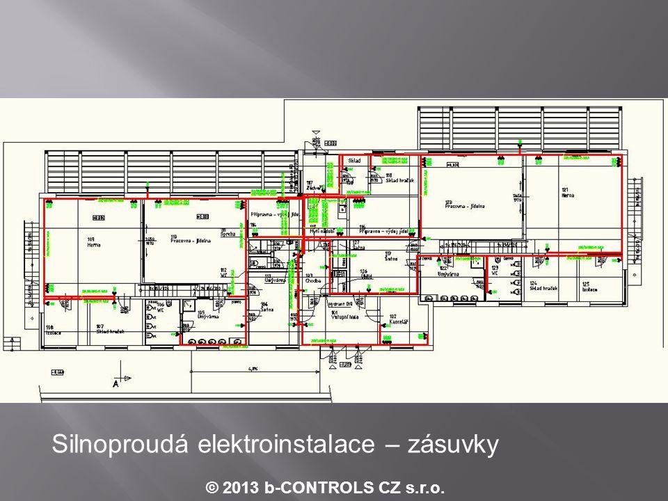 © 2013 b-CONTROLS CZ s.r.o. Příklad schématu zapojení digitálních vstupů - MaR