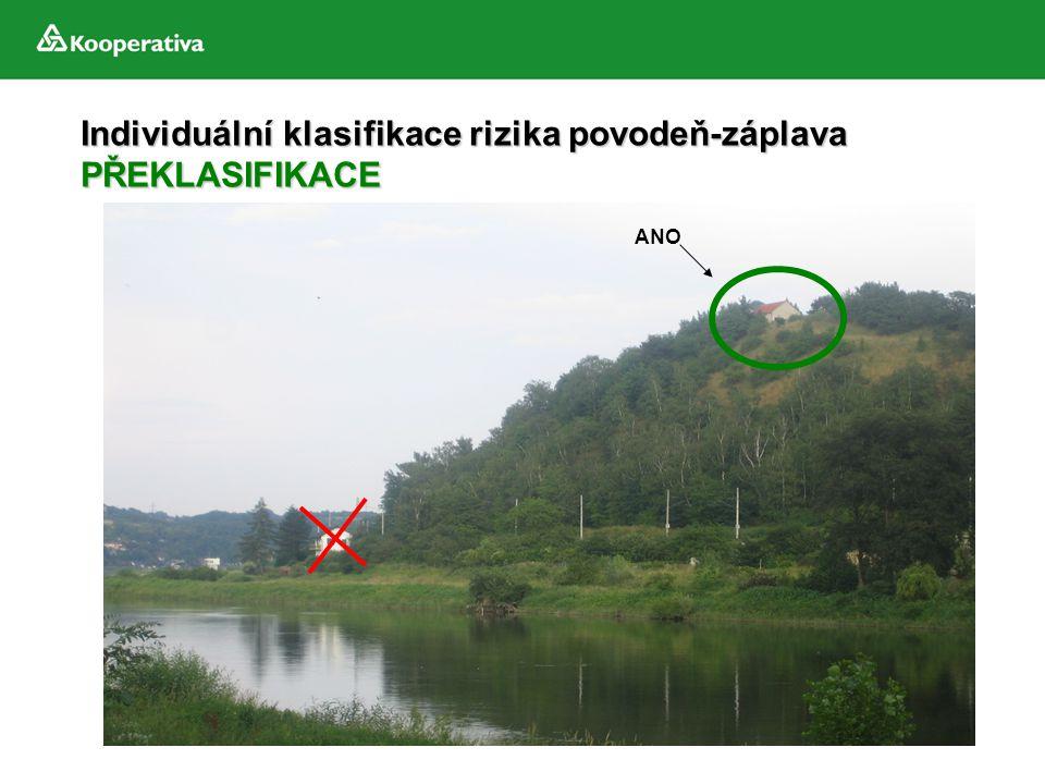 Individuální klasifikace rizika povodeň-záplava PŘEKLASIFIKACE ANO