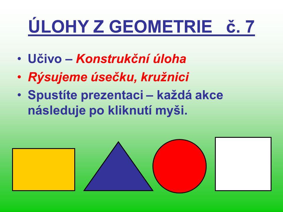 ÚLOHY Z GEOMETRIE č.