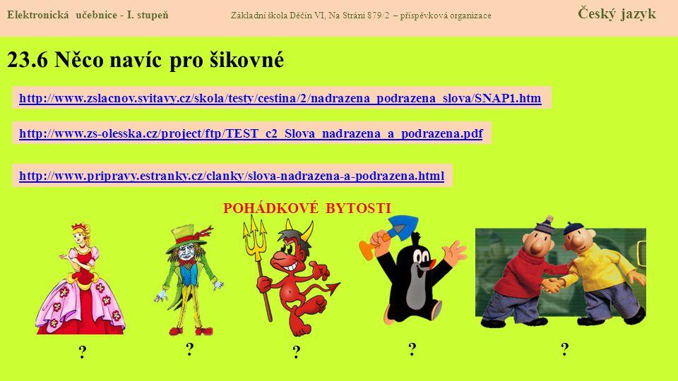 23.7 Superordinate, subordinate and coordinate words Elektronická učebnice - I.