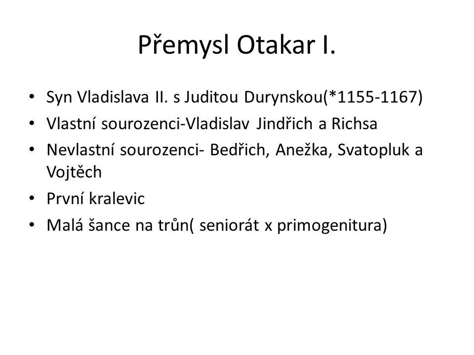Soběslav II.na trůn 1172- Vladislav II.