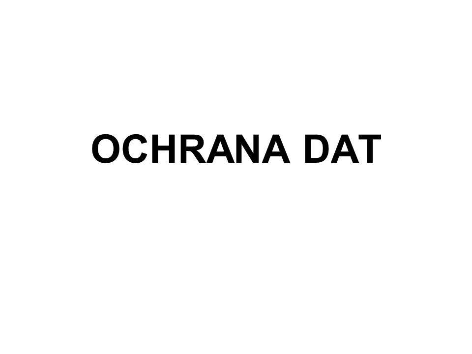 OCHRANA DAT