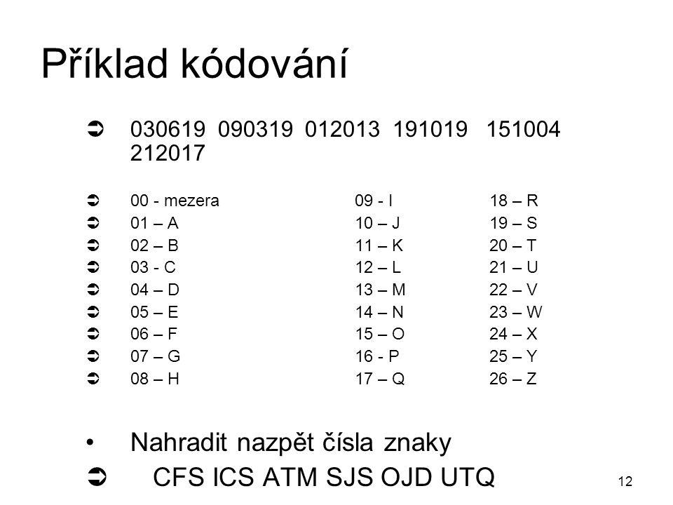 11 Příklad kódování  4.