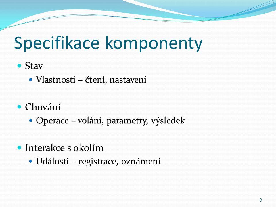 Persistence Automatická Implementace rozhraní Serializable Vlastní Pomocí klíčového slova transient Metody readObject() a writeObject() private void writeObject(java.io.ObjectOutputStream out) throws IOException; private void readObject(java.io.ObjectInputStream in) throws IOException, ClassNotFoundException; Implementace rohraní Externalizable