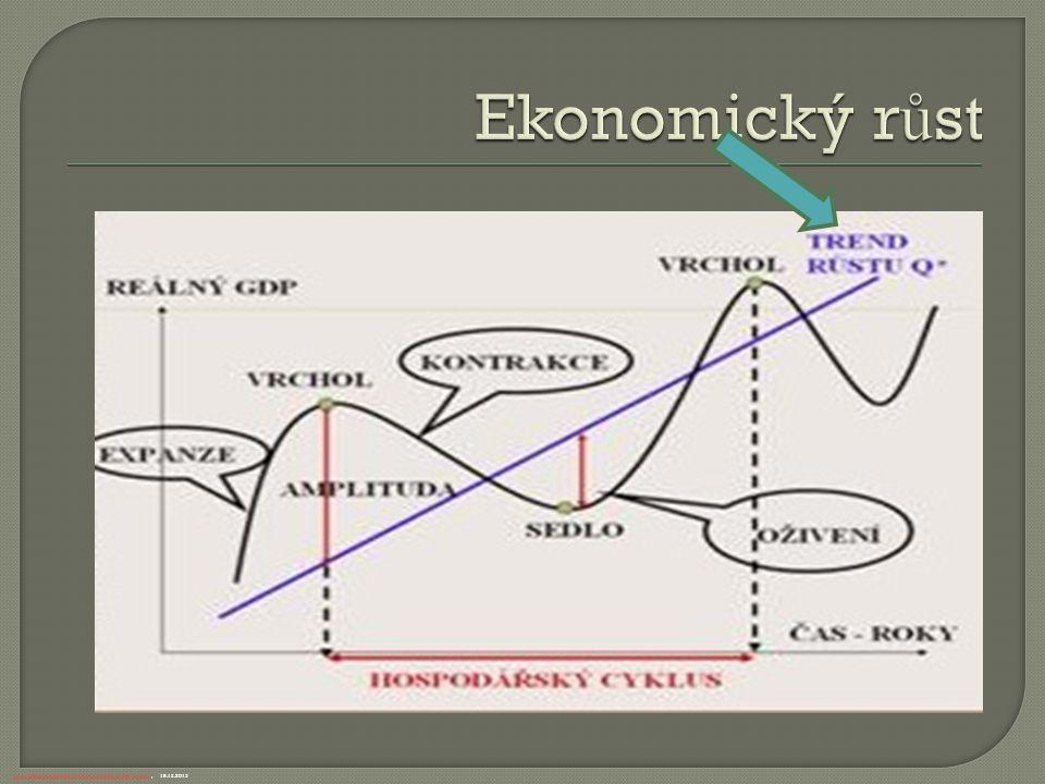  Za standardní, příznivé tempo ekonomického r ů stu pova ž ujeme rozp ě tí od 3 do 5 %.