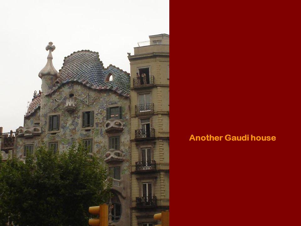 Balcony of Batlo house by Gaudi