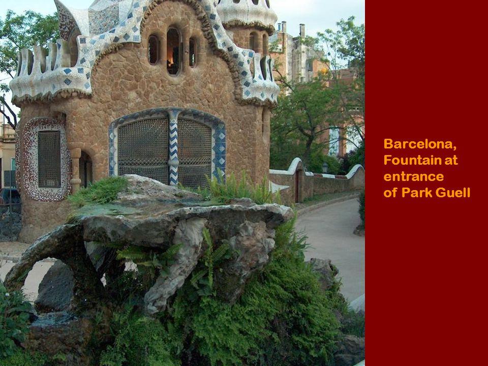Gaudis house in Gaudi park