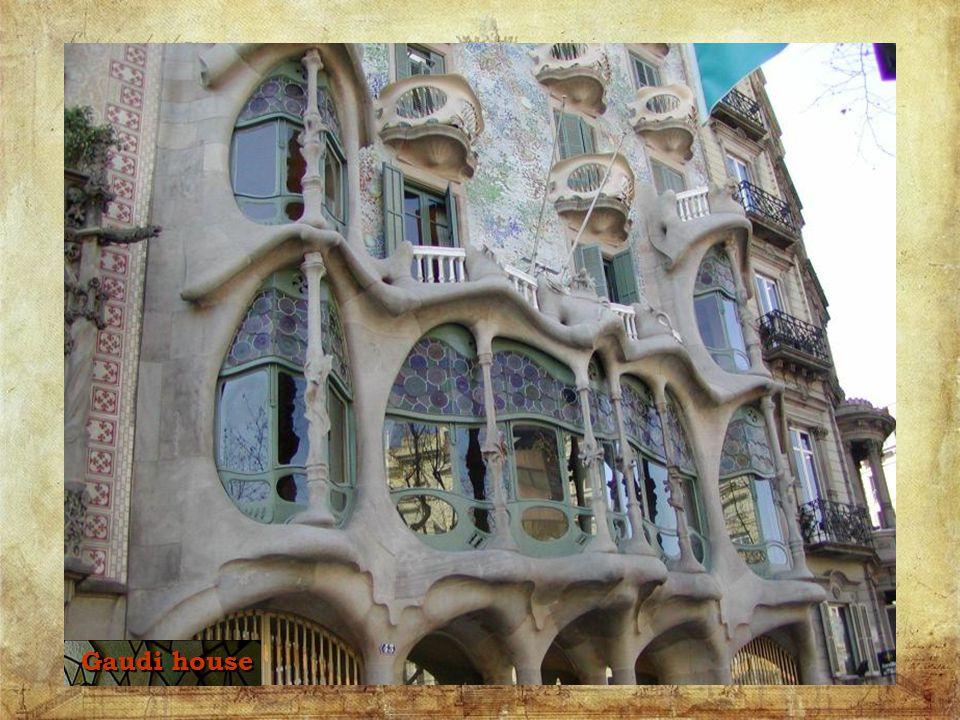 Ceiling inside Gaudi House (Gaudi s Casa Batllo)
