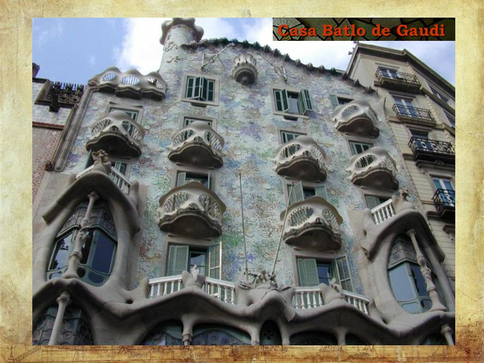 Gaudi s estate - home - his own designs