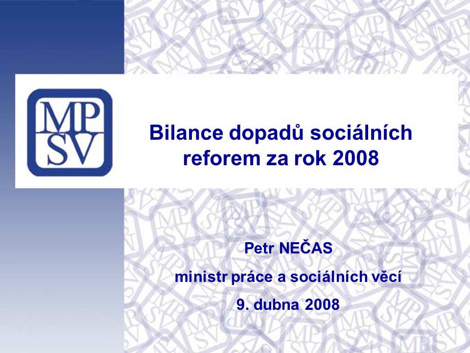 Petr NEČAS ministr práce a sociálních věcí 9.