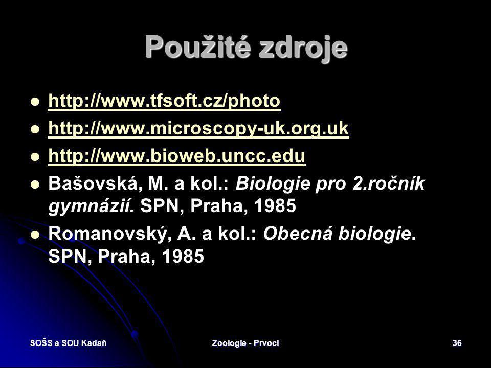 SOŠS a SOU KadaňZoologie - Prvoci35 Opakování Kdo je přenašeč zimničky čtvrtodenní? Kdo je přenašeč zimničky čtvrtodenní? Jaký hmyz přenáší trypanozóm