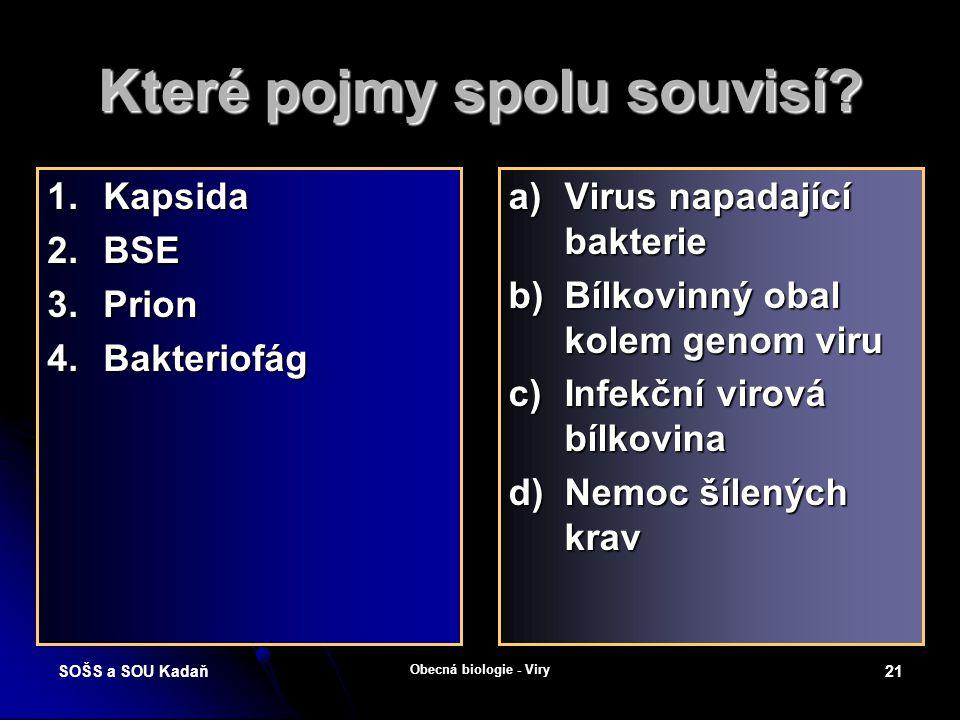 SOŠS a SOU Kadaň Obecná biologie - Viry 20 H5N1 – virus ptačí chřipky Podtypem chřipkového viru typu A je i vir ptačí chřipky H5N1.