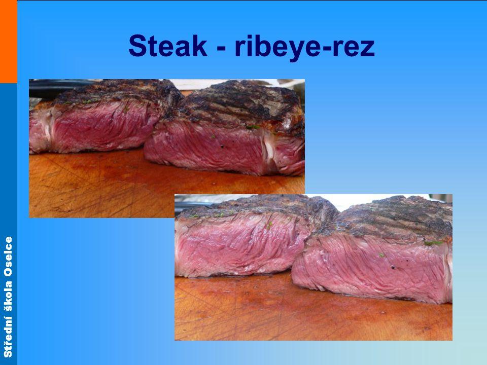 Střední škola Oselce Steak - ribeye-rez