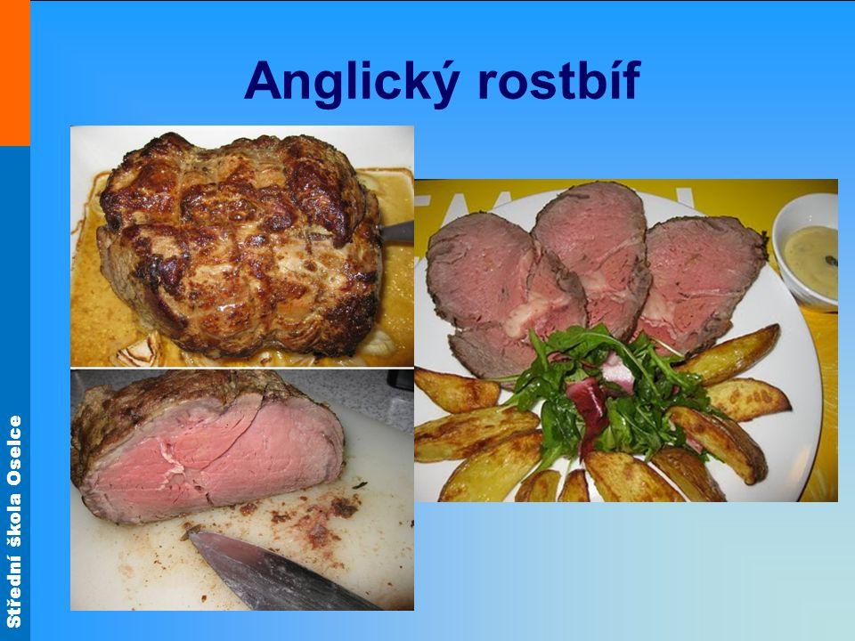 Střední škola Oselce Flank steak s omáčkou z rybízu, pepře a portského Z hovězího pupku