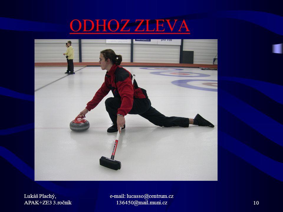 Lukáš Plachý, APAK+ZE3 3.ročník e-mail: lucasso@centrum.cz 136450@mail.muni.cz10 ODHOZ ZLEVA