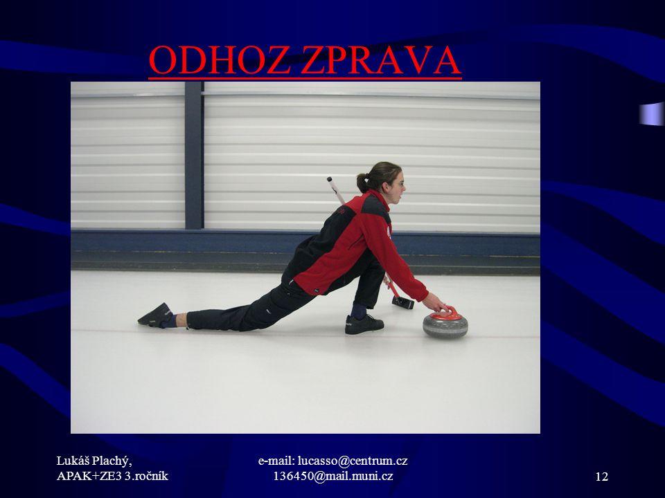 Lukáš Plachý, APAK+ZE3 3.ročník e-mail: lucasso@centrum.cz 136450@mail.muni.cz12 ODHOZ ZPRAVA