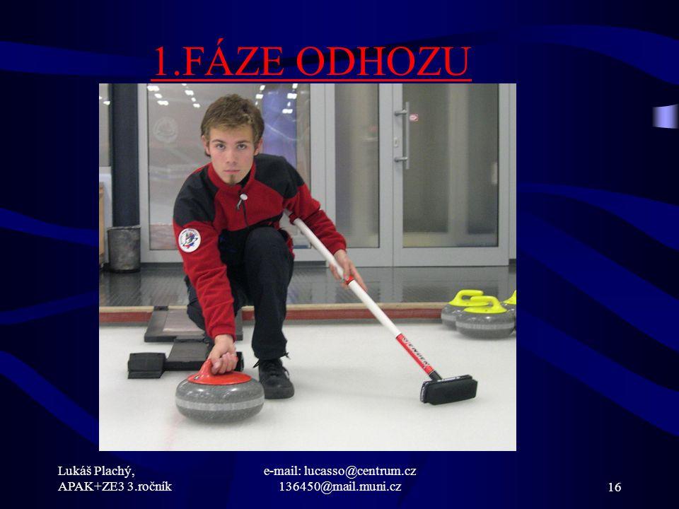 Lukáš Plachý, APAK+ZE3 3.ročník e-mail: lucasso@centrum.cz 136450@mail.muni.cz16 1.FÁZE ODHOZU