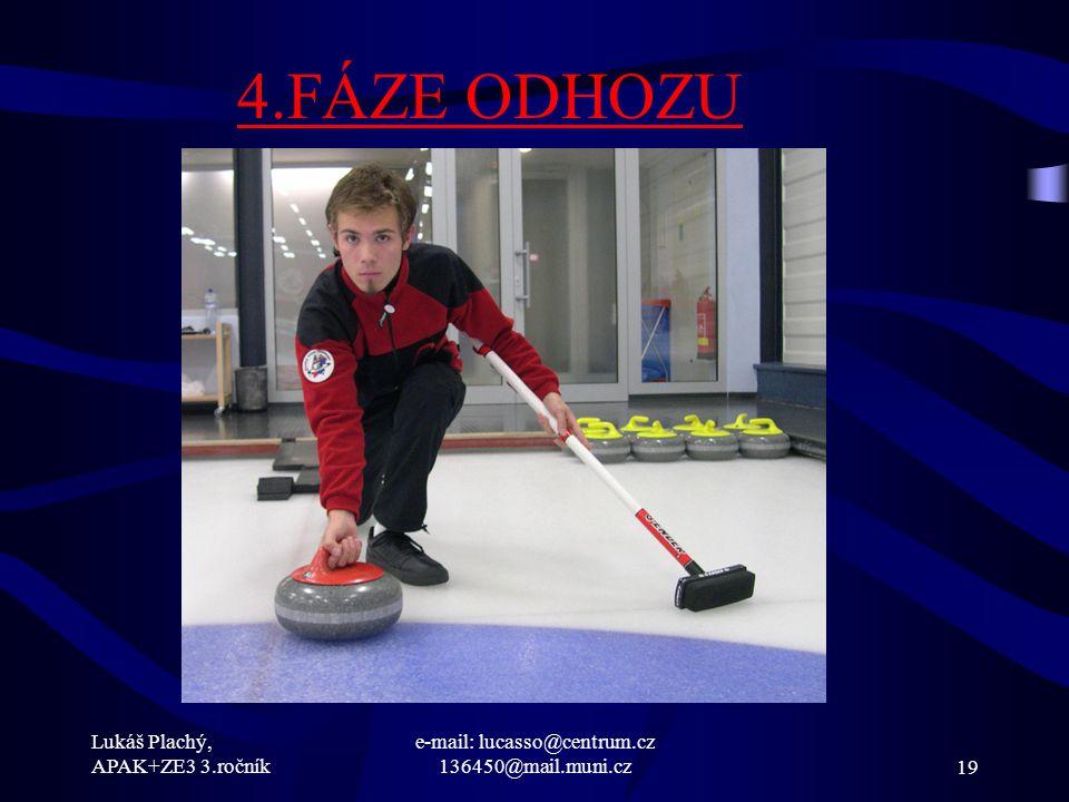 Lukáš Plachý, APAK+ZE3 3.ročník e-mail: lucasso@centrum.cz 136450@mail.muni.cz19 4.FÁZE ODHOZU
