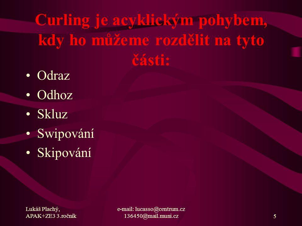 Lukáš Plachý, APAK+ZE3 3.ročník e-mail: lucasso@centrum.cz 136450@mail.muni.cz6 Funkční a metabolická charakteristika sport.