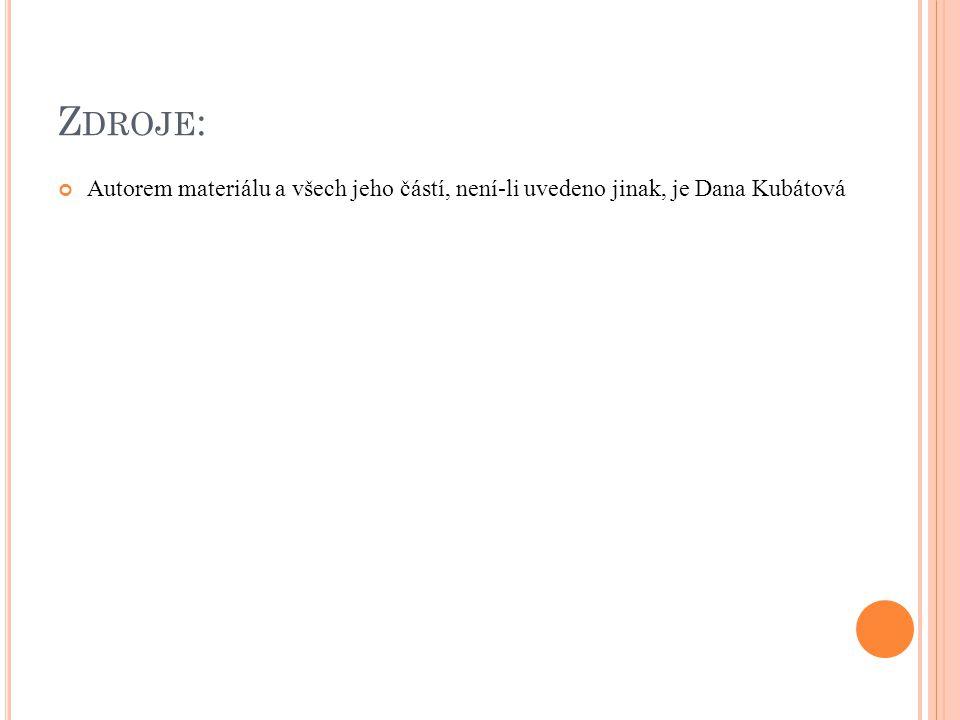 Z DROJE : Autorem materiálu a všech jeho částí, není-li uvedeno jinak, je Dana Kubátová