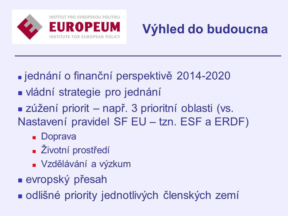 jednání o finanční perspektivě 2014-2020 vládní strategie pro jednání zúžení priorit – např.