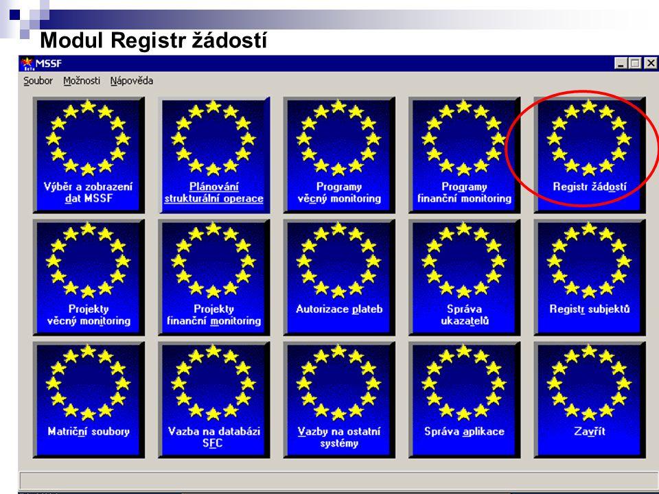 11 Modul Registr žádostí