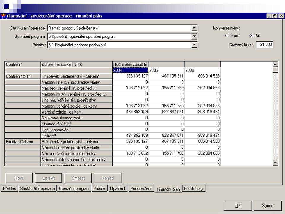 8 Modul Programy věcný a finanční monitoring