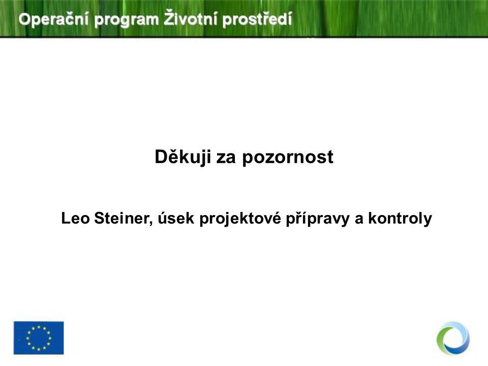Děkuji za pozornost Leo Steiner, úsek projektové přípravy a kontroly