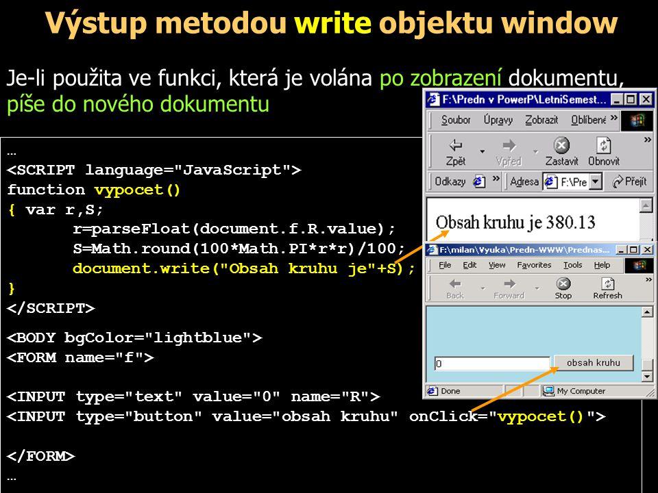 Lokální a globální proměnné, parametry Ve funkci lze pracovat s:.