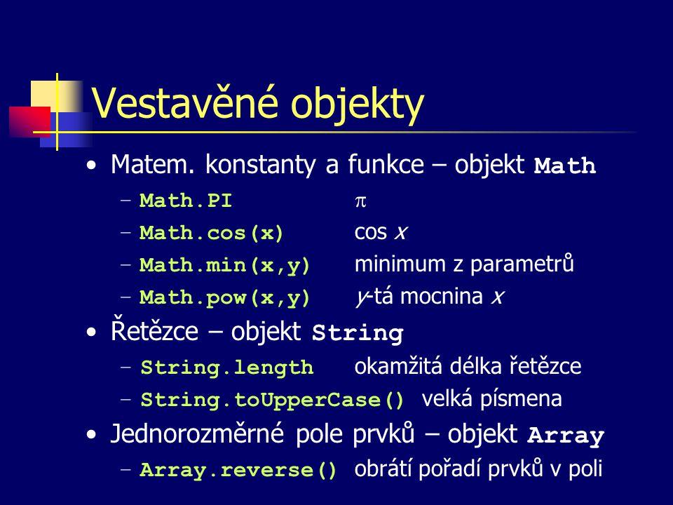 Vestavěné objekty Matem.