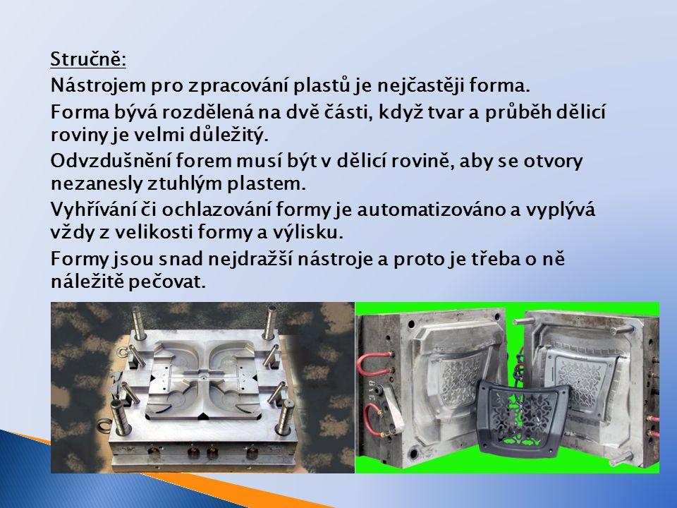 Co je to forma.Forma je nástroj s dutinou ve tvaru negativu hotového výrobku.