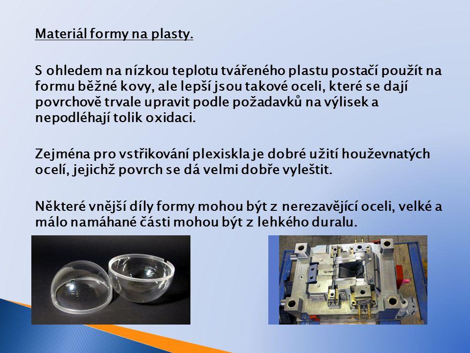 Shrnutí: Forma je nejběžnějším nástrojem pro zpracování plastů.
