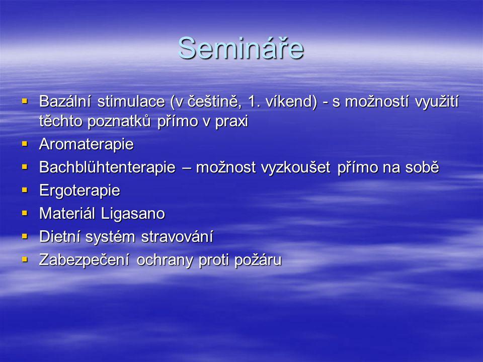 Semináře  Bazální stimulace (v češtině, 1.