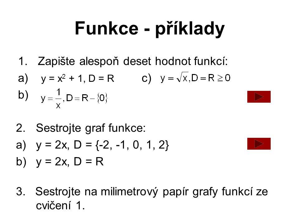 Funkce - příklady 4.