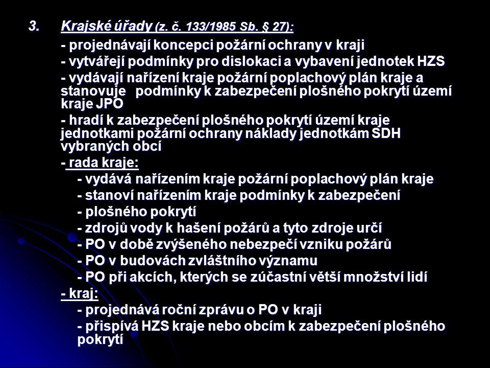 3.Krajské úřady (z. č. 133/1985 Sb.