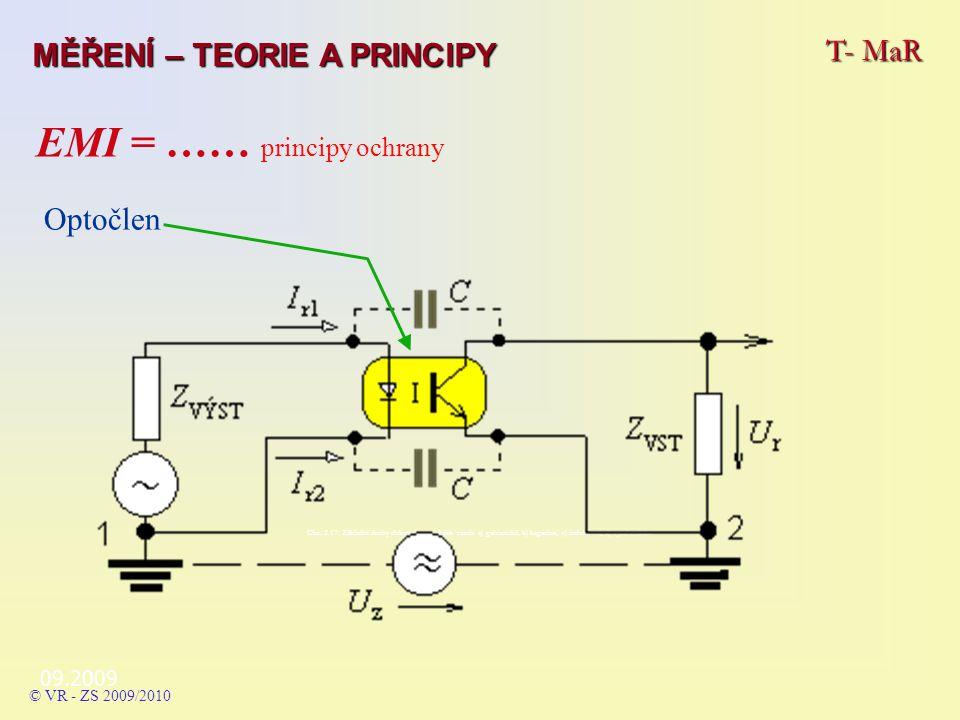 09.2009 T- MaR MĚŘENÍ – TEORIE A PRINCIPY © VR - ZS 2009/2010 Obr.