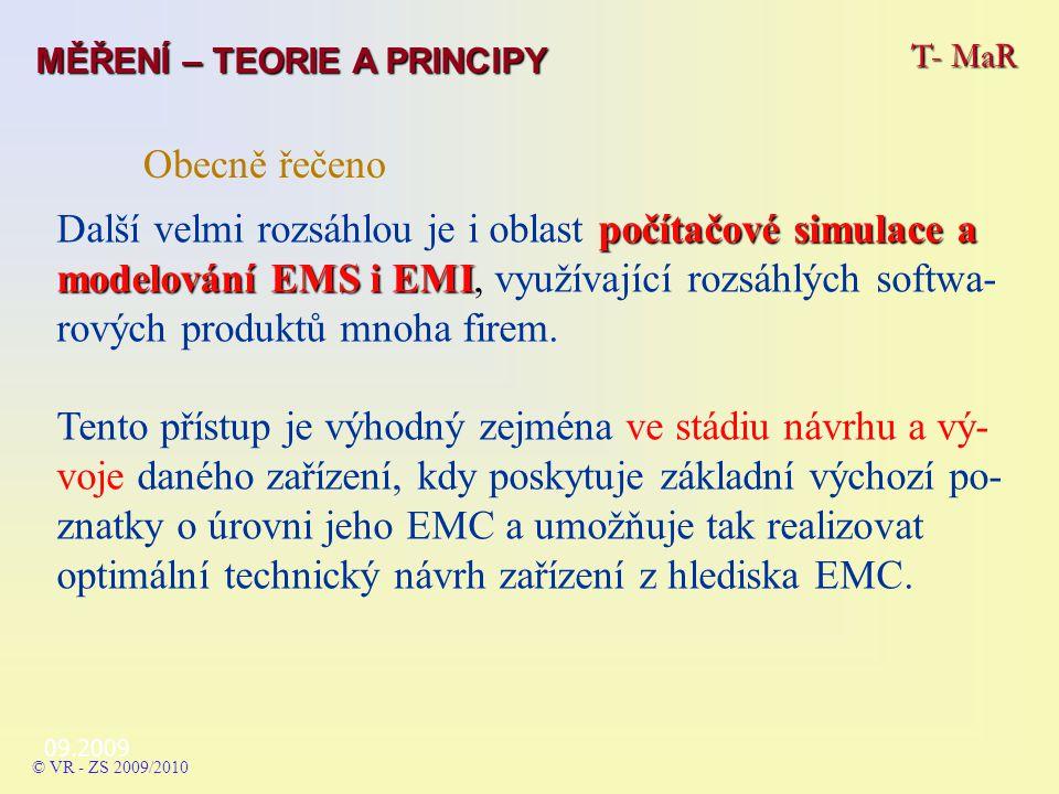 09.2009 počítačové simulacea modelování EMS i EMI Další velmi rozsáhlou je i oblast počítačové simulace a modelování EMS i EMI, využívající rozsáhlých softwa- rových produktů mnoha firem.