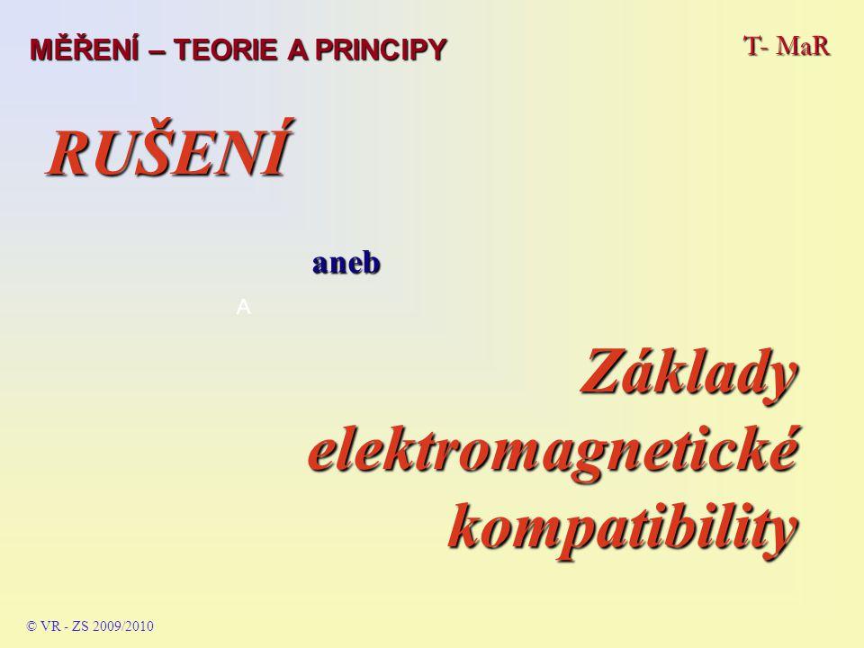 09.2009 T- MaR MĚŘENÍ – TEORIE A PRINCIPY © VR - ZS 2009/2010 Proudový impuls při vybití elektrostatického náboje