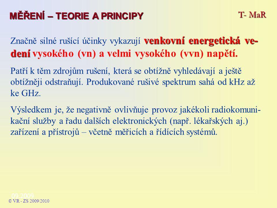 09.2009 venkovní energetická ve- dení Značně silné rušící účinky vykazují venkovní energetická ve- dení vysokého (vn) a velmi vysokého (vvn) napětí.